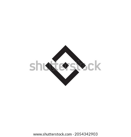letters s,o and L simple symbol box vector logo Zdjęcia stock ©