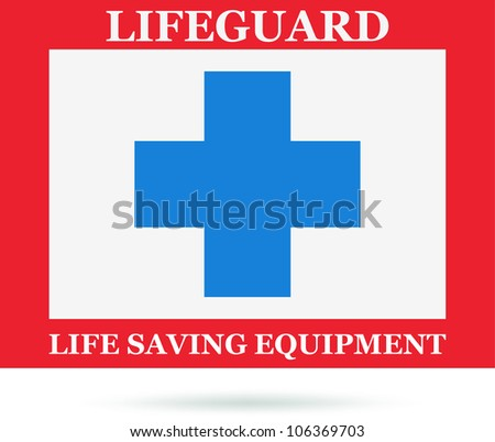 Lifeguard icon, sign. Vector