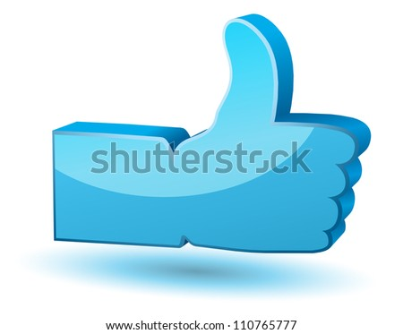 """Like"" vector symbol on white background"