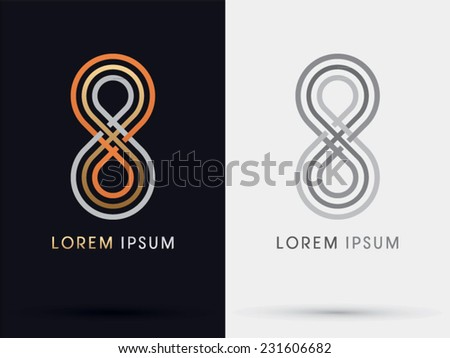 8 Limitless infinity abstract vector logo