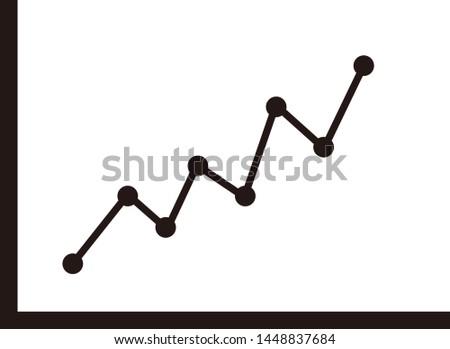 Line graph vector illustration. Graph icon.