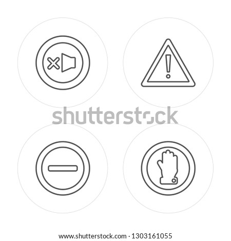4 line Lost items, Restaurant, Waiting room, Silence modern icons on round shapes, Lost items, Restaurant, Waiting room, Silence vector illustration, trendy linear icon set.