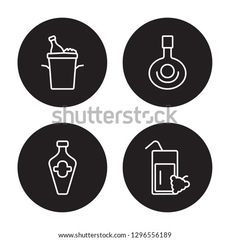 4 linear vector icon set   ice