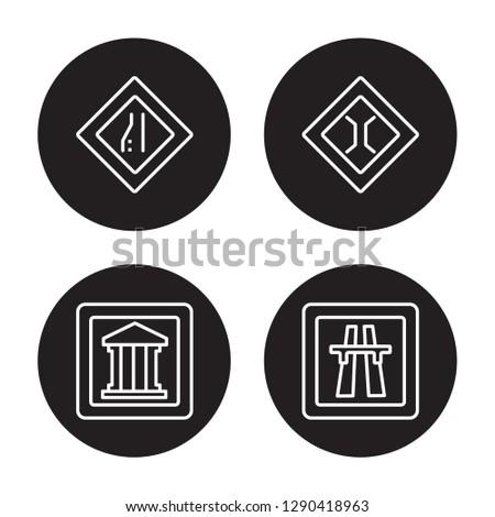 4 linear vector icon set
