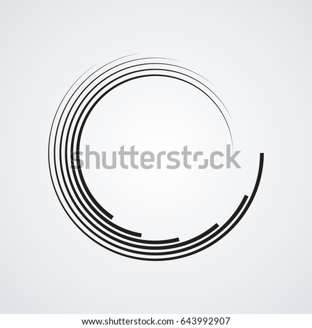 lines in circle form  spiral