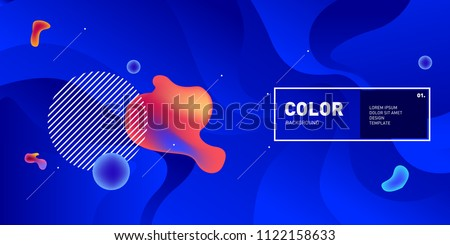 Liquid color background design. Fluid gradient shapes composition. Futuristic design posters. Eps10 vector. #1122158633