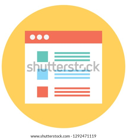 List Item Isolated Vector icon that can be easily modified or edit