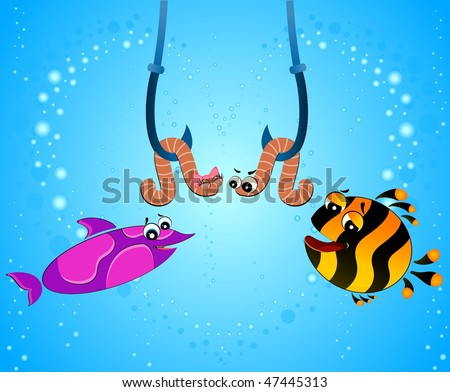 funny fish names. little cartoon funny fish