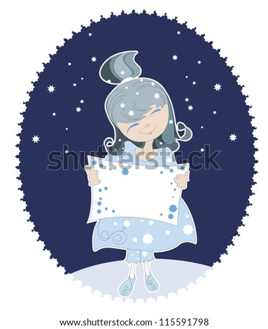 Little Snow Maiden in the blue dress