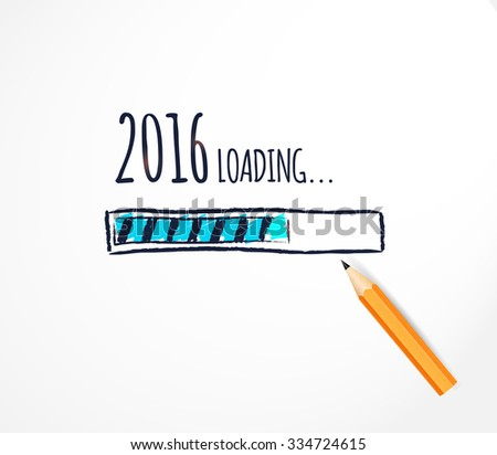 2016 loading hand drawn
