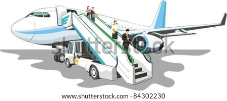 loading ramp with passengers on a airplane