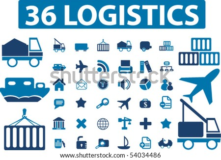 36 logistics. vector - stock vector