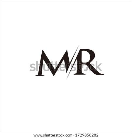 logo design letter 'mr' for brand and company names Stock fotó ©