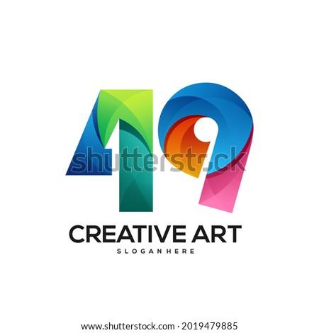 49 logo gradient colorful design