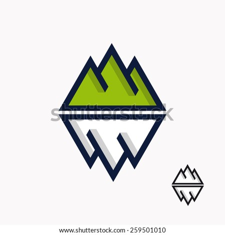 logo of the mountain and
