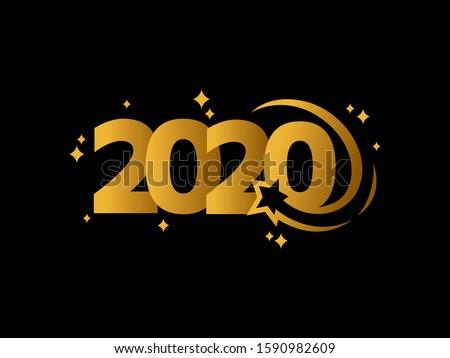 2020 logo text design template