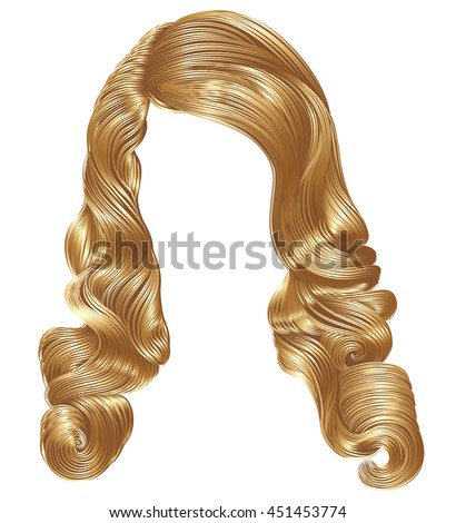 long curly hairs  light blond