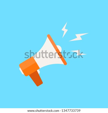 Loudspeaker. Flat design. Vector illustration,