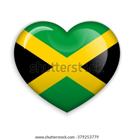 love jamaica  flag heart