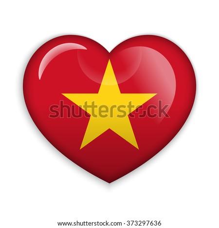 love vietnam  flag heart