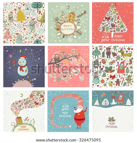 9 lovely christmas and new year