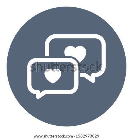 Loving chat, chat bubble Isolated Vector Icon which can be easily modified or edited
