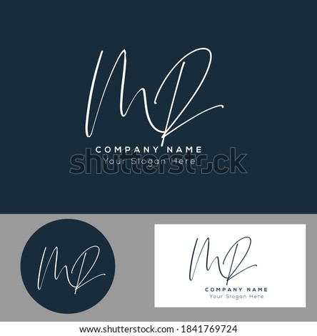 M R MR Initial letter handwriting and signature logo. Beauty vector initial logo .Fashion, boutique, floral and botanical Stock fotó ©