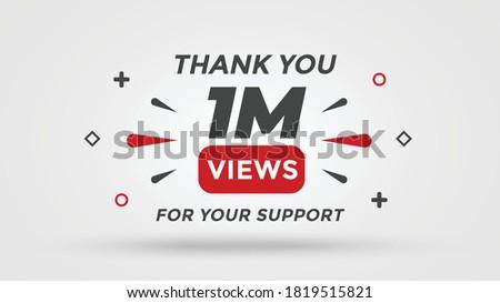 1M views celebration background design. 1 Million views Stock fotó ©