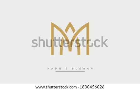 MA, AM Abstract Letters Logo Monogram Stok fotoğraf ©