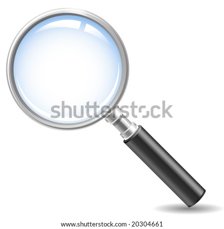 magnifying glass icon ( no meshes, only gradients)