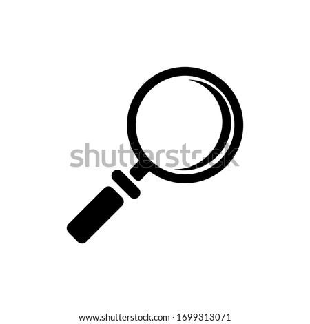Magnifying glass or search icon, flat vector graphics with isolated white background. eps 10