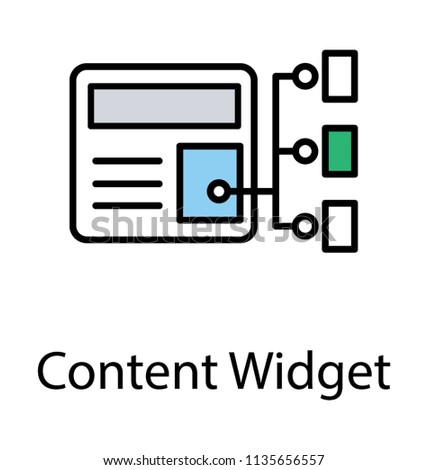 Main hub attached with some clients, this is iconographic of content widget