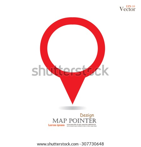 map pointer.map pointer sign.vector illustration.