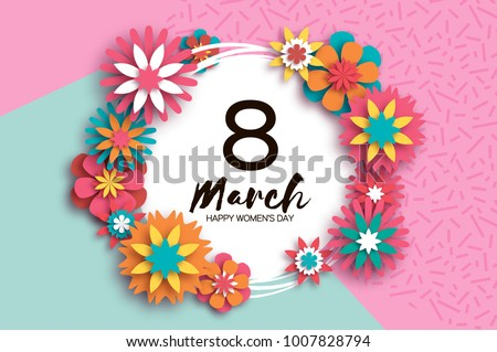8 march colorful happy women s