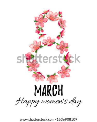 8 march  happy women's day card