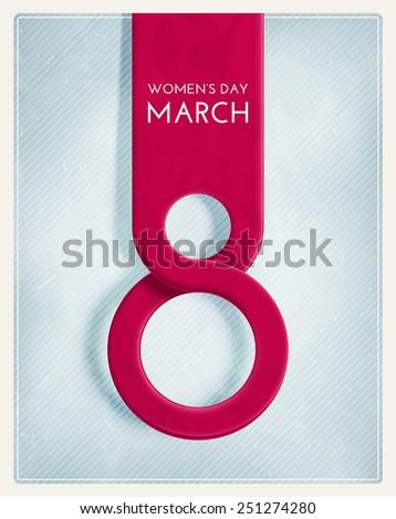 8 March, International Women's Day, eps 10