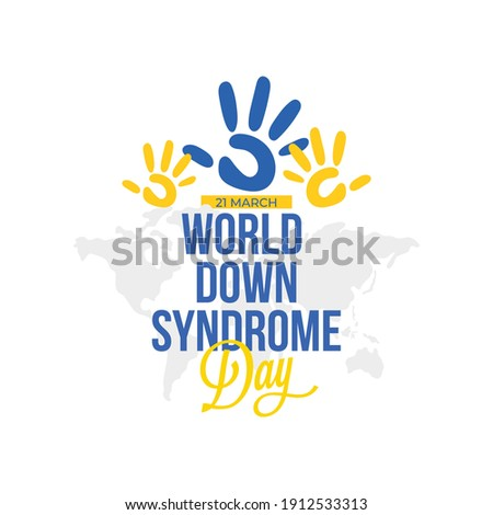 21 march World Down Syndrome Day, vector