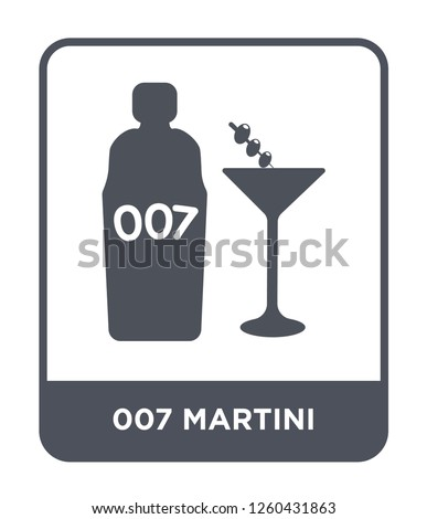 007 martini icon vector on
