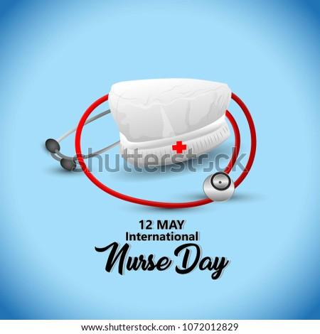 12 May. International Nurse Day background. Stock fotó ©
