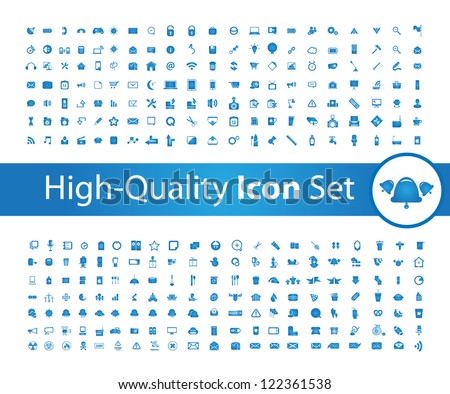 Media icon set High - Quality