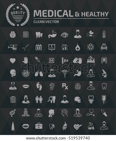 Medical and healthy care icons,vector