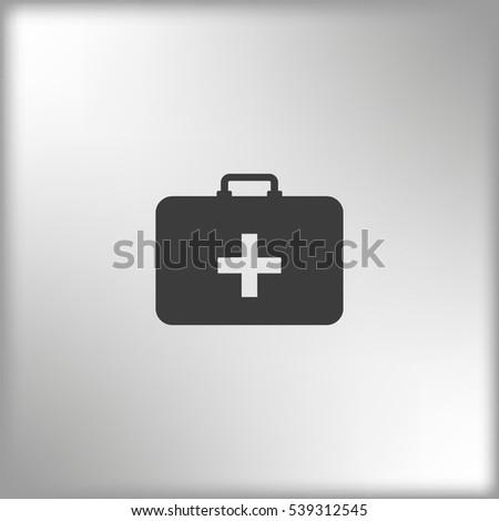 medicine bag icon  vector