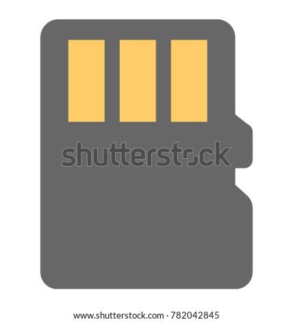 Memory Card Vector Icon