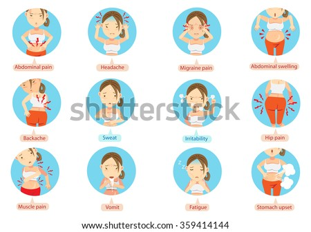vector images illustrations and cliparts menstruation pain or stomach ache cartoon character of the women in the circle vector illustration hqvectors com menstruation pain or stomach ache