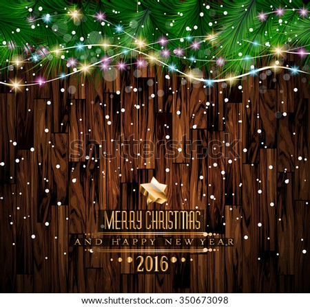2016 merry christmas and happy new year background for seasonal greetings cards parties flyer