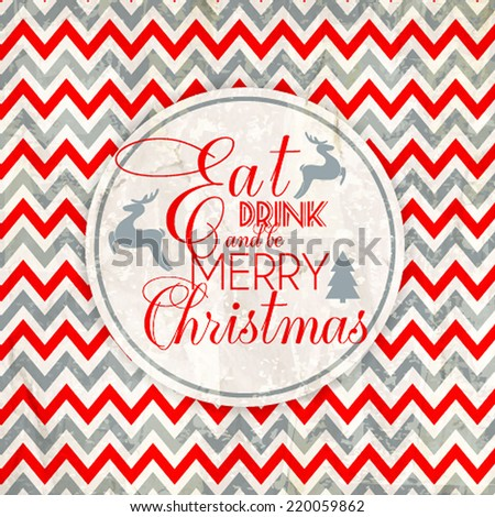 Merry Christmas and Happy New Year Card Vector illustration abstract Christmas Background