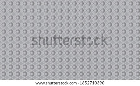 Metal background vector, metal floor, nut and screw