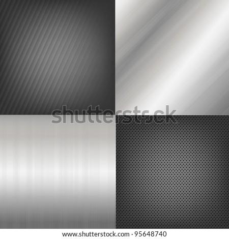 4 metal texture backgrounds