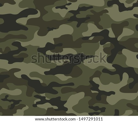 military camouflage print seamless vector pattern. green background .modern.