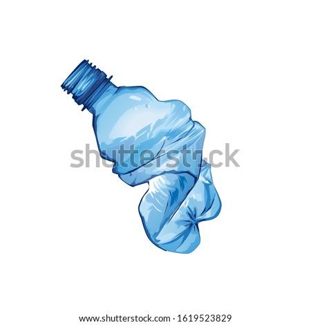 mineral water bottle litter